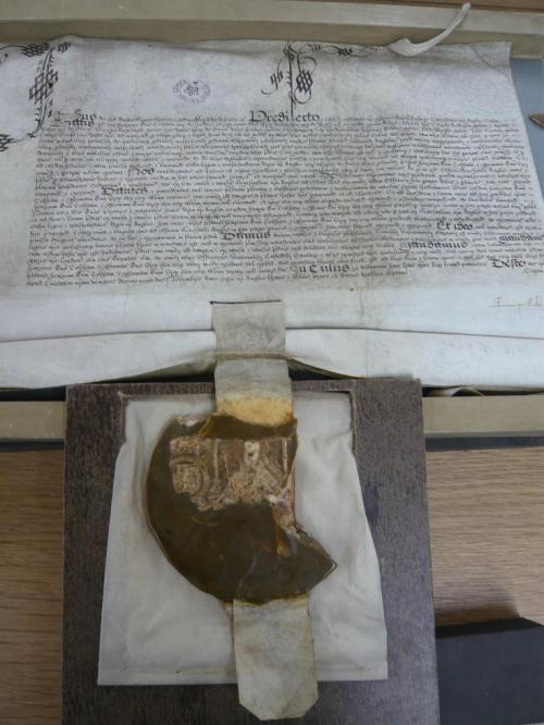 James I seal on Raleigh's trial record