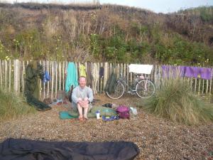 Dunwich beach, the morning after