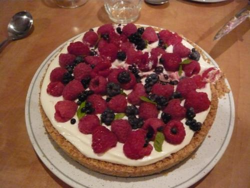 raspberry and blackberry tart