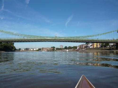 Canoe-eye view of Hammersmith Bridge