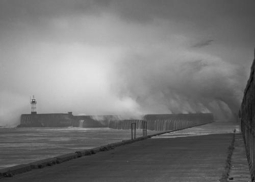 Newhaven during St Jude's Storm