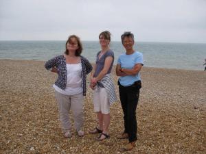 Literary ladies on the beach