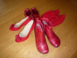 All the red shoes